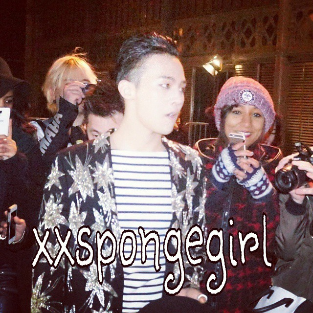 G-Dragon - Saint Laurent Fashion Show - 25jan2015 - xxspongegirl - 1.jpg