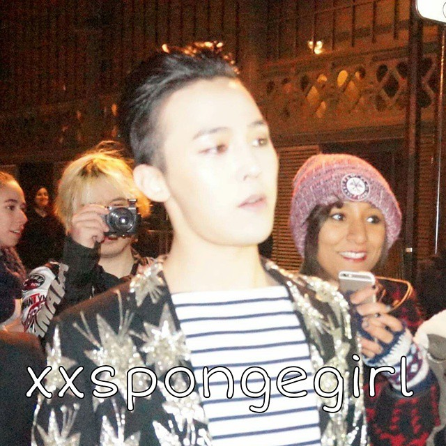 G-Dragon - Saint Laurent Fashion Show - 25jan2015 - xxspongegirl - 2.jpg