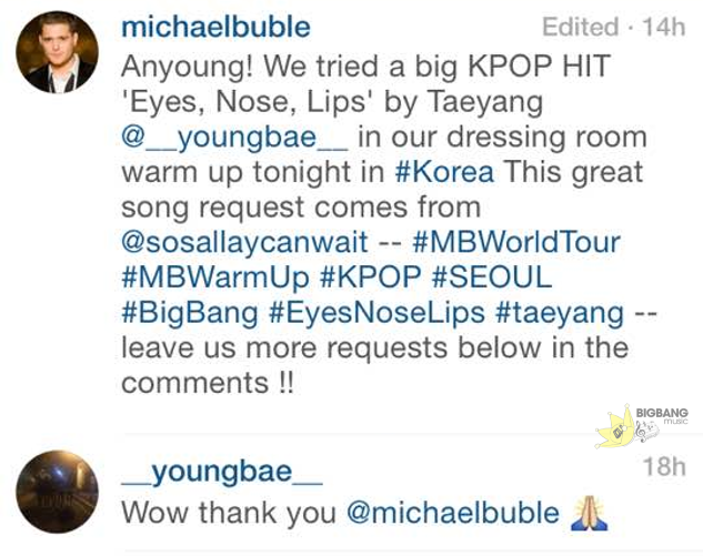 Taeyangcomment-MichaelBuble
