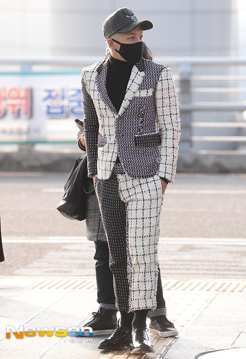 Tae Yang - Incheon Airport - 09jan2015 - Newsen - 02