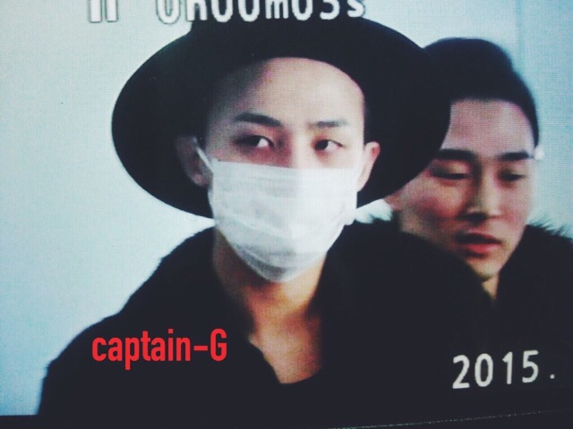 G-Dragon - Incheon Airport - 24jan2015 - Captain G - 01.jpg