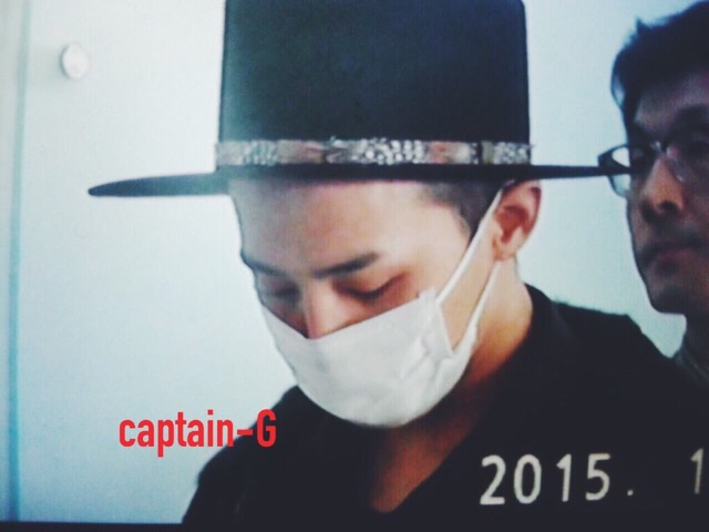 G-Dragon - Incheon Airport - 24jan2015 - Captain G - 03.jpg