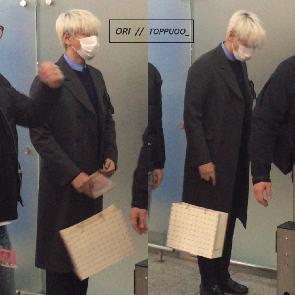 G-Dragon & TOP - Incheon Airport - 30jan2015 - TOP - Toppuoo_ - 01.jpg