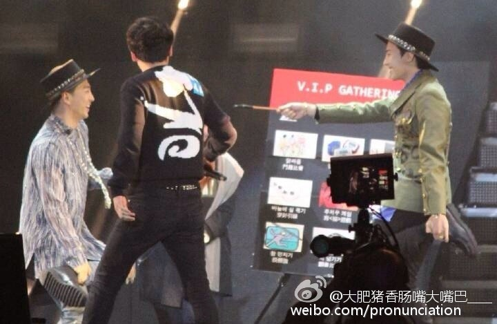 G-Dragon, Seung Ri & Tae Yang - V.I.P GATHERING in Fuzhou - 28mar2015 - pronunciation - 01.jpg