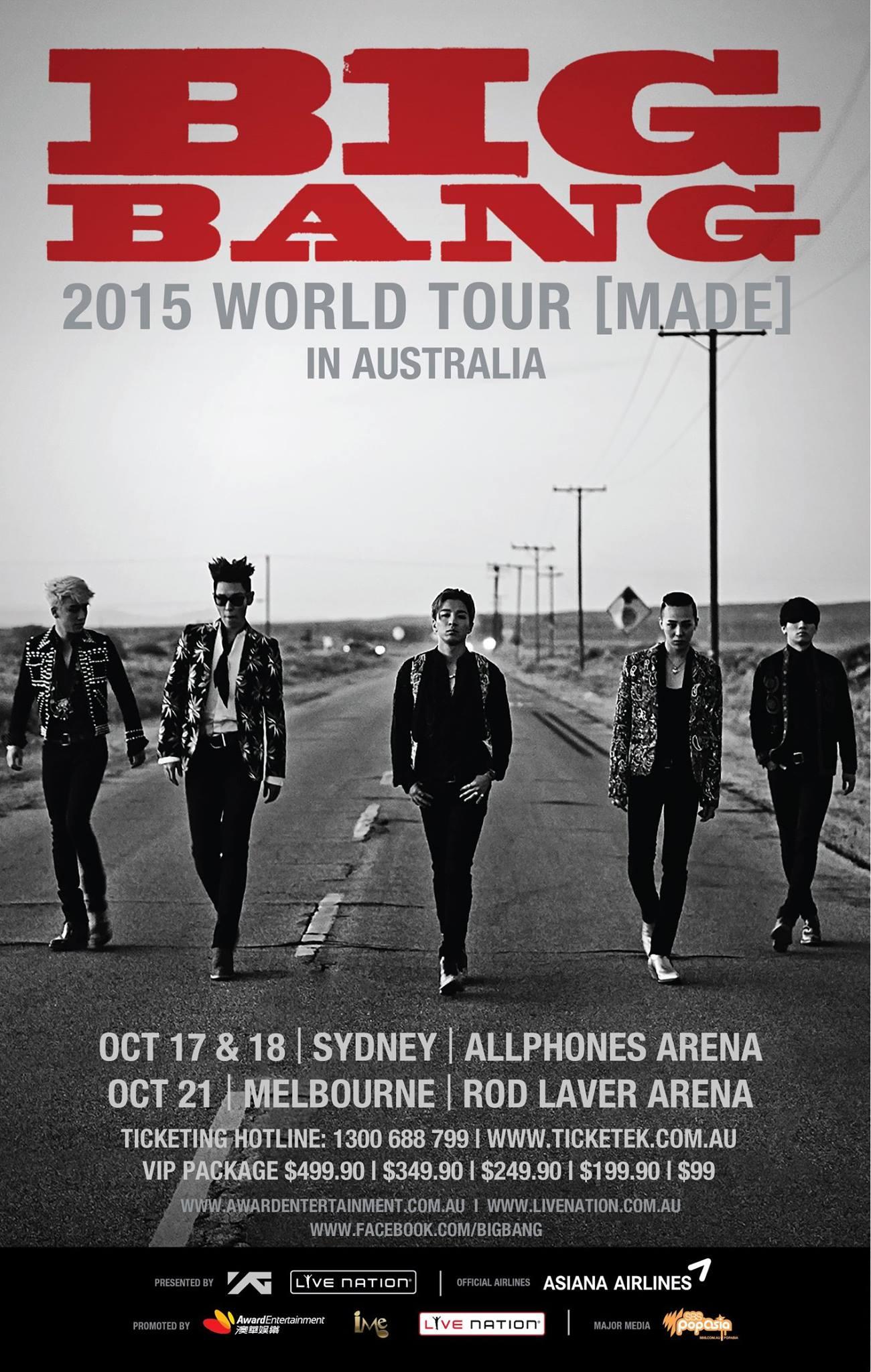 BIGBANG MADE in Sydney