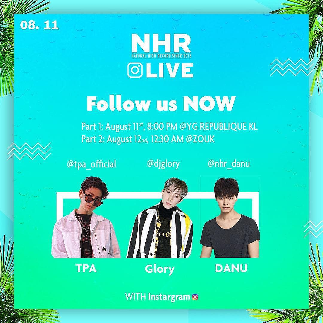 Seungri Instagram Aug 10, 2017 9:39am 내일 #8월11일 #말레이시아 🇲🇾 #Kl @yg_republique grand open 과 @zoukclubkl 에서의 @naturalhighrecord 과 저의 인스타 라이브를 여러 앵글로 생생하게 보실수있습니다 지금 바로 follow 하세요! On August 11st, you get to see Seungri and NHR artists in three different angles on Instagram live. Stay tuned at following time on the poster. Hope you don