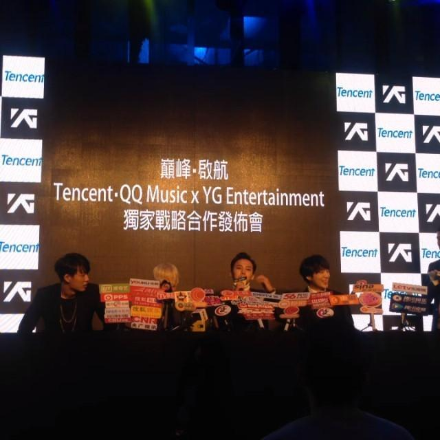 Photos | Videos] YG x Tencent QQ Music Press con Hong Kong 2014-12