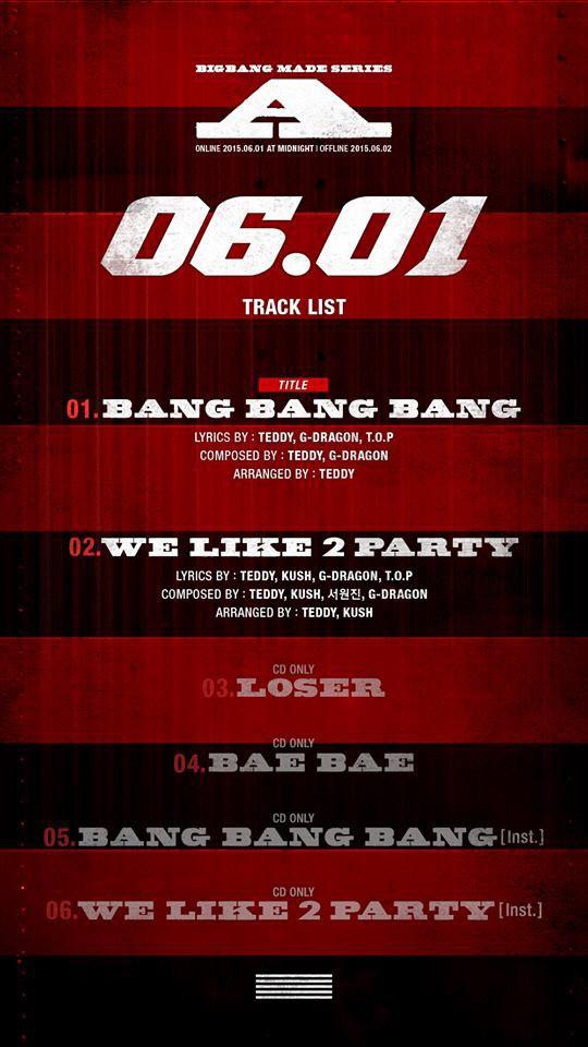 bigbang tracklist