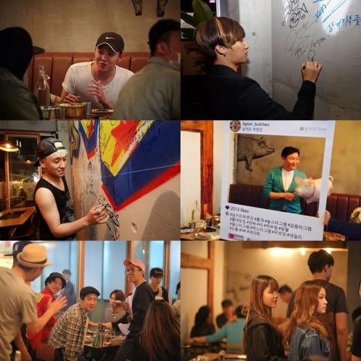 YG Family Holds Party at CEO Yang Hyun Suk's New Restaurant in Hongdae