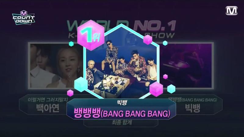 """BIGBANG Takes 3rd Win with """"Bang Bang Bang"""" + BTS, SISTAR, Teen Top, AOA Comebacks Galore on """"M!Countdown"""""""