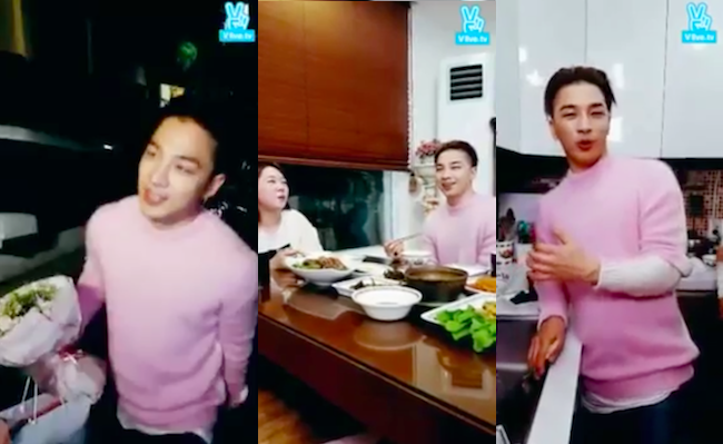 BIGBANG's Taeyang Makes First Ever Visit to a Fan's Home During Live Broadcast