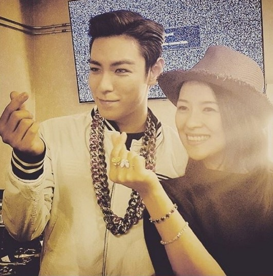 BIGBANG's T.O.P. and Zhang Ziyi Pose for a Snapshot During His U.S. Tour