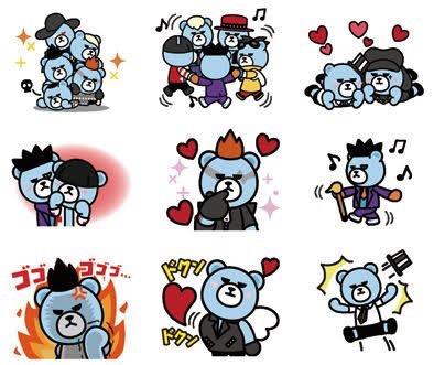 Info] New animated KRUNK x BIGBANG LINE stickers in Japan