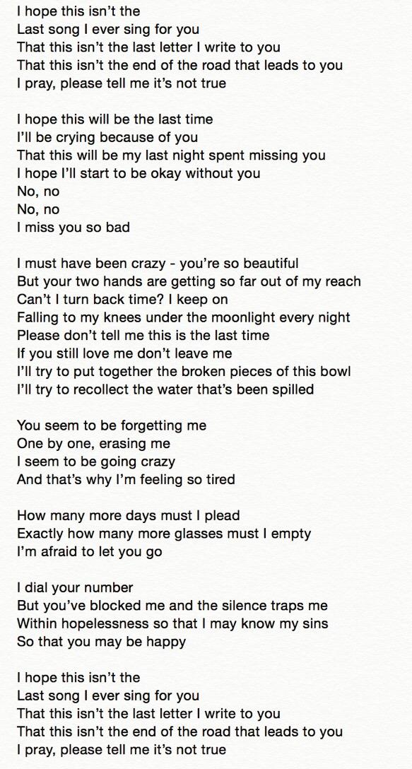 "ENG trans | Lyrics] iKON ""I Miss You So Bad"" written by G-Dragon"