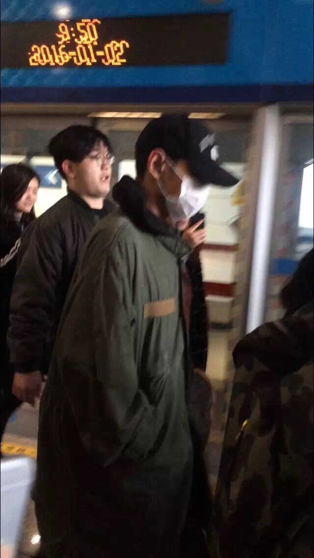 GD TOP Dae Departure Beijing To Seoul 2016-01-02 韩都衣舍G-Dragon粉丝团 (6)