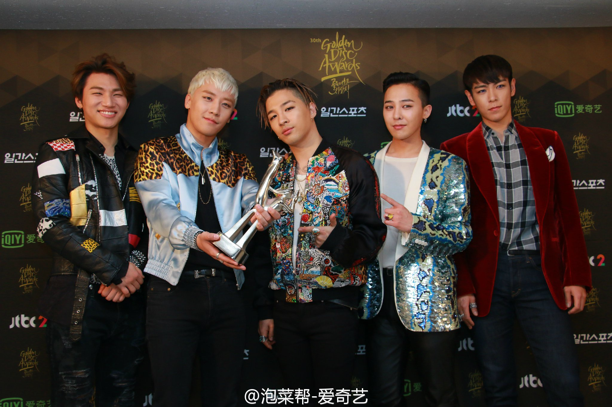 BIGBANG - Golden Disk Awards - Backstage - 20jan2016 - 泡菜帮-爱奇艺 - 12