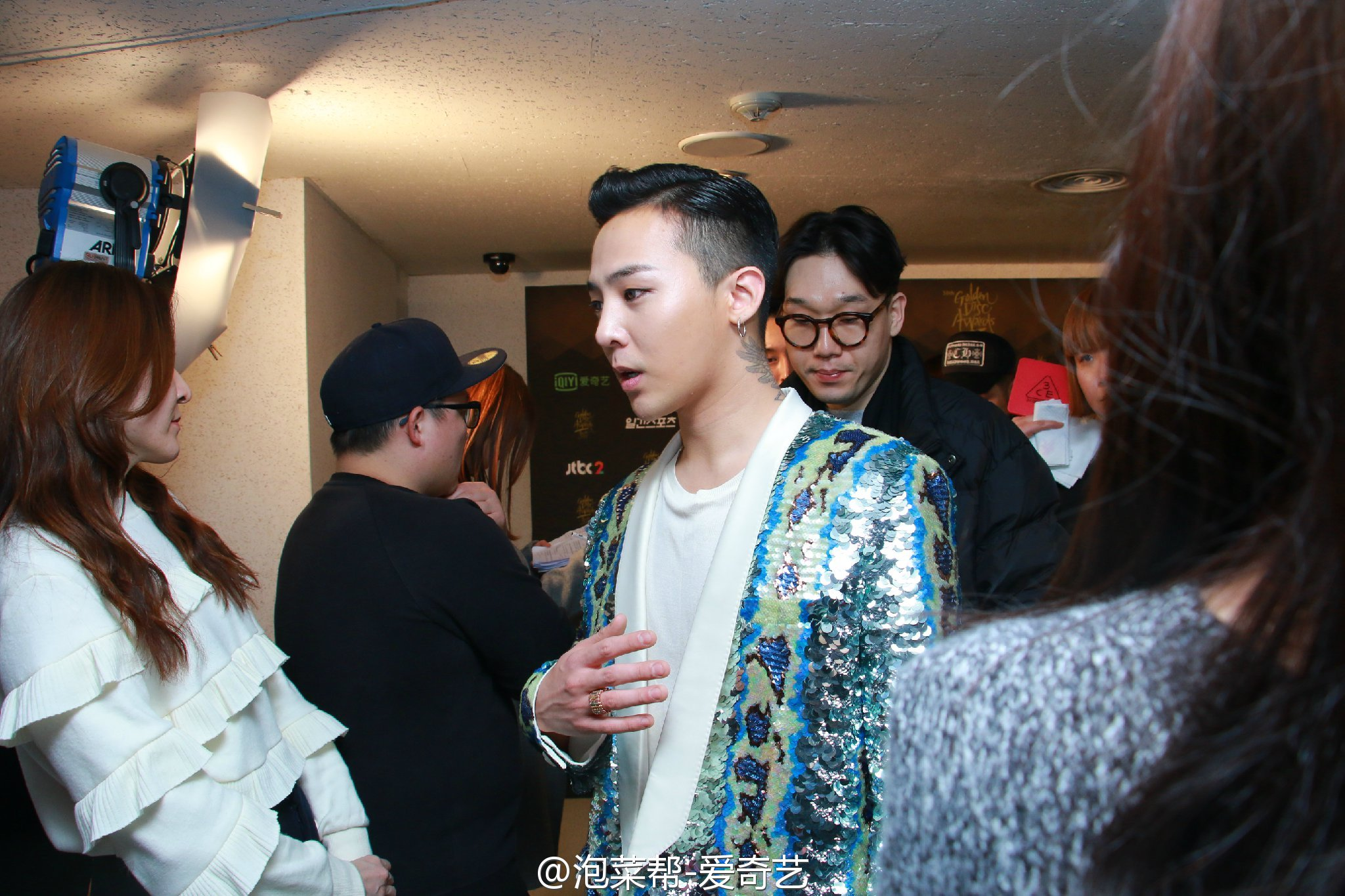BIGBANG - Golden Disk Awards - Backstage - 20jan2016 - 泡菜帮-爱奇艺 - 07