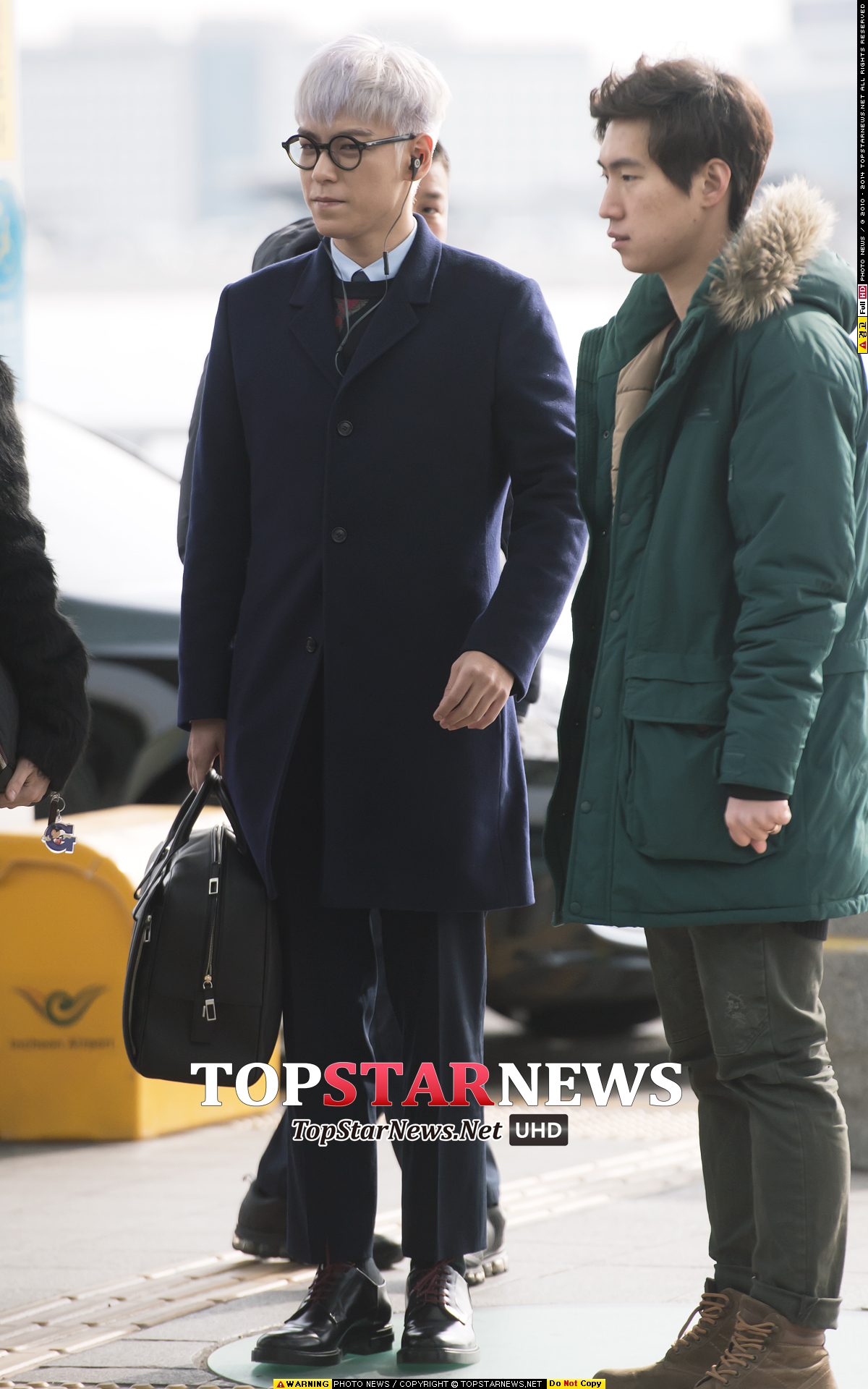 TOP G-Dragon Departure Seoul Incheon To Paris 2016-01-22 Press (42)