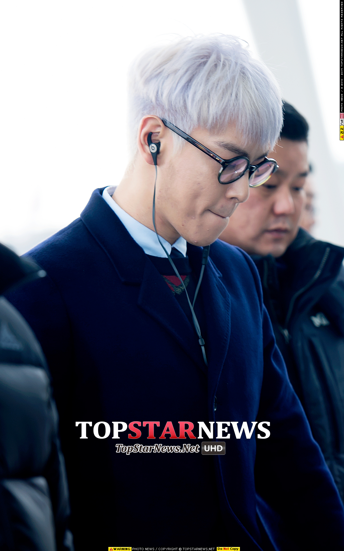 TOP G-Dragon Departure Seoul Incheon To Paris 2016-01-22 Press (54)