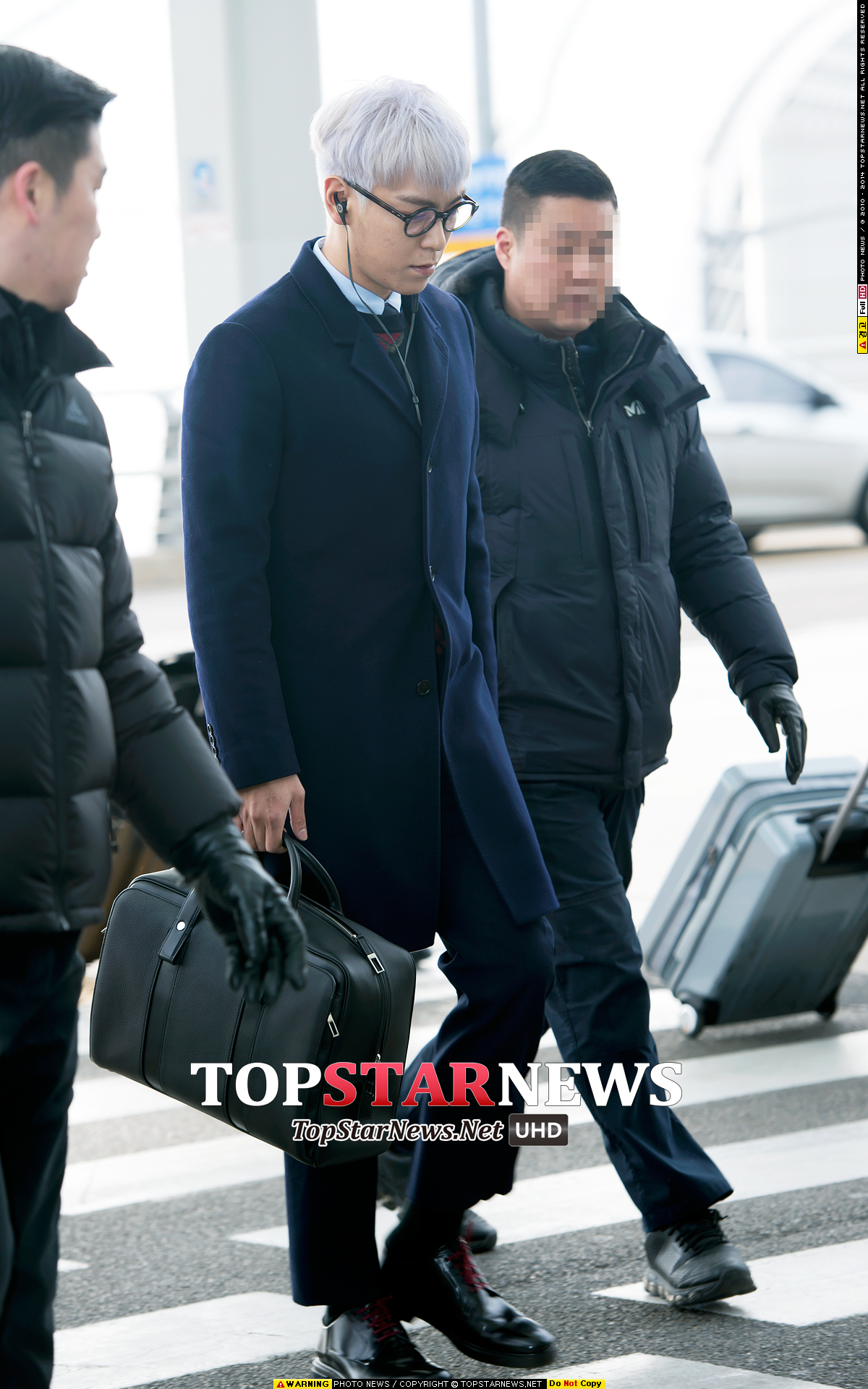 TOP G-Dragon Departure Seoul Incheon To Paris 2016-01-22 HQs (7)