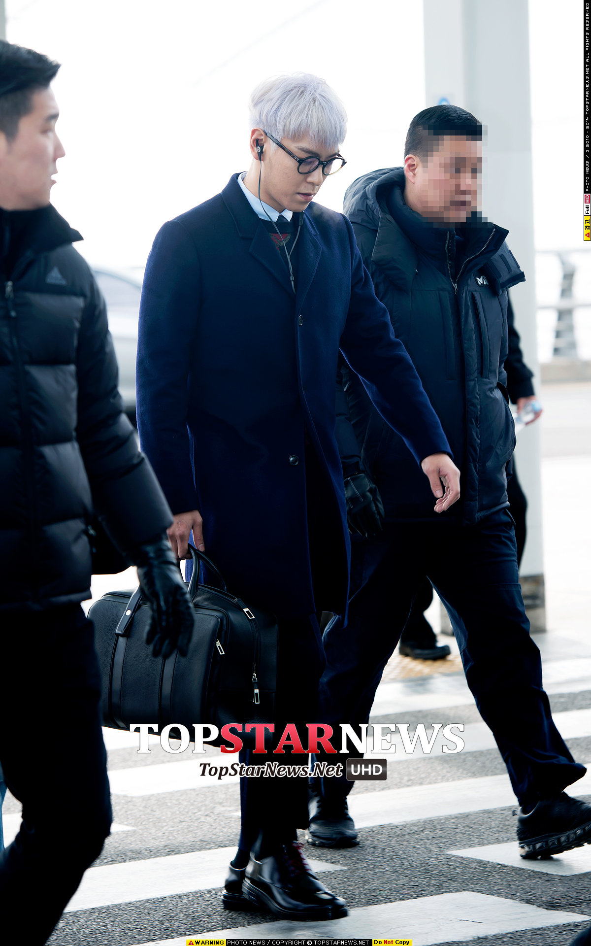 TOP G-Dragon Departure Seoul Incheon To Paris 2016-01-22 HQs (3)