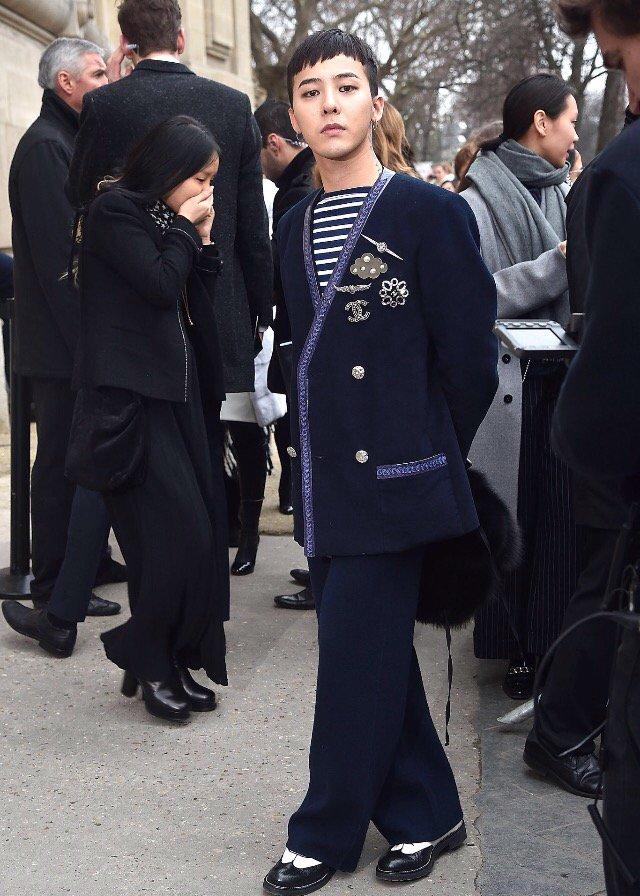 G-Dragon Chanel Haute Coutoure At Grand Palais Paris 2016-01-26 Press 10
