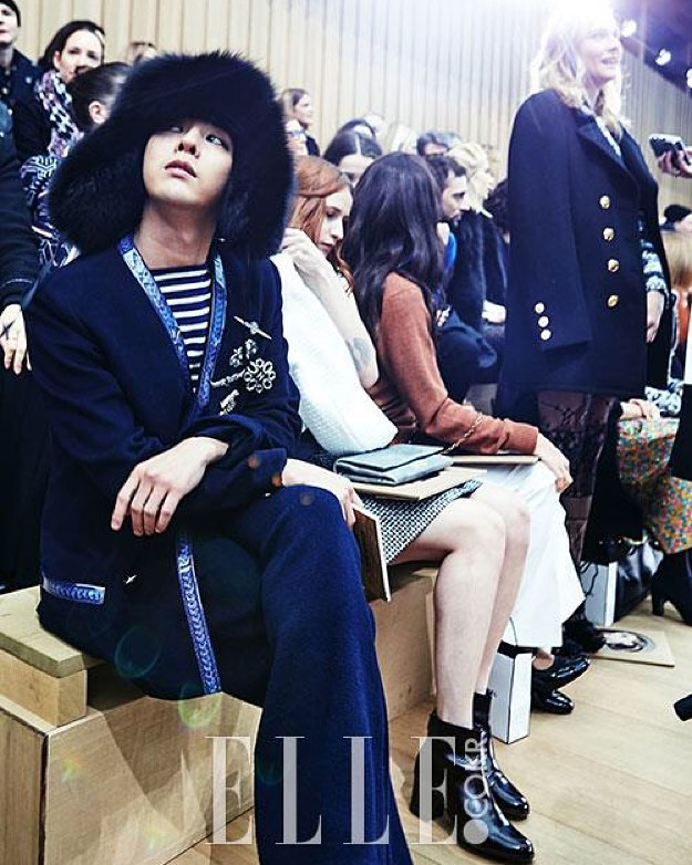 G-Dragon - Chanel Fashion Show - 26jan2016 - Ellekorea - 01