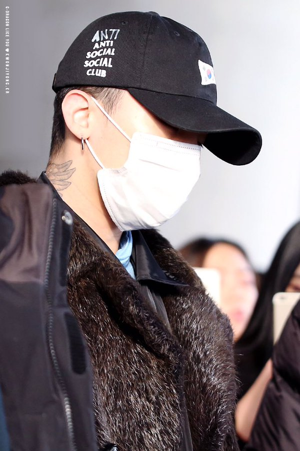 G-Dragon - Incheon Airport - 28jan2016 - Likeyou_GD - 05