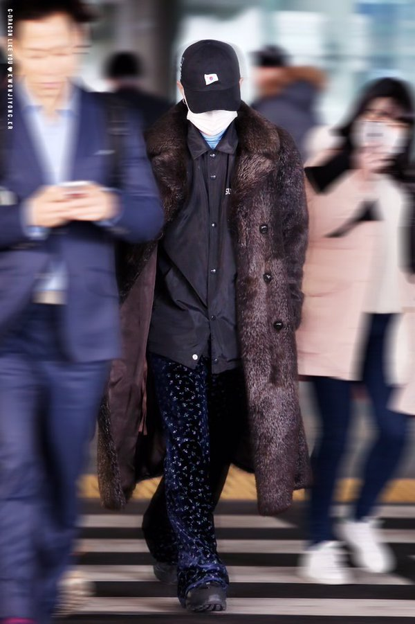 G-Dragon - Incheon Airport - 28jan2016 - Likeyou_GD - 06