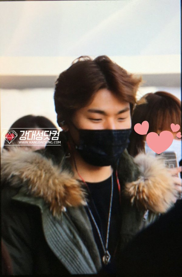 Daesung Arrival Seoul From Tokyo 2016-02-09 (1)