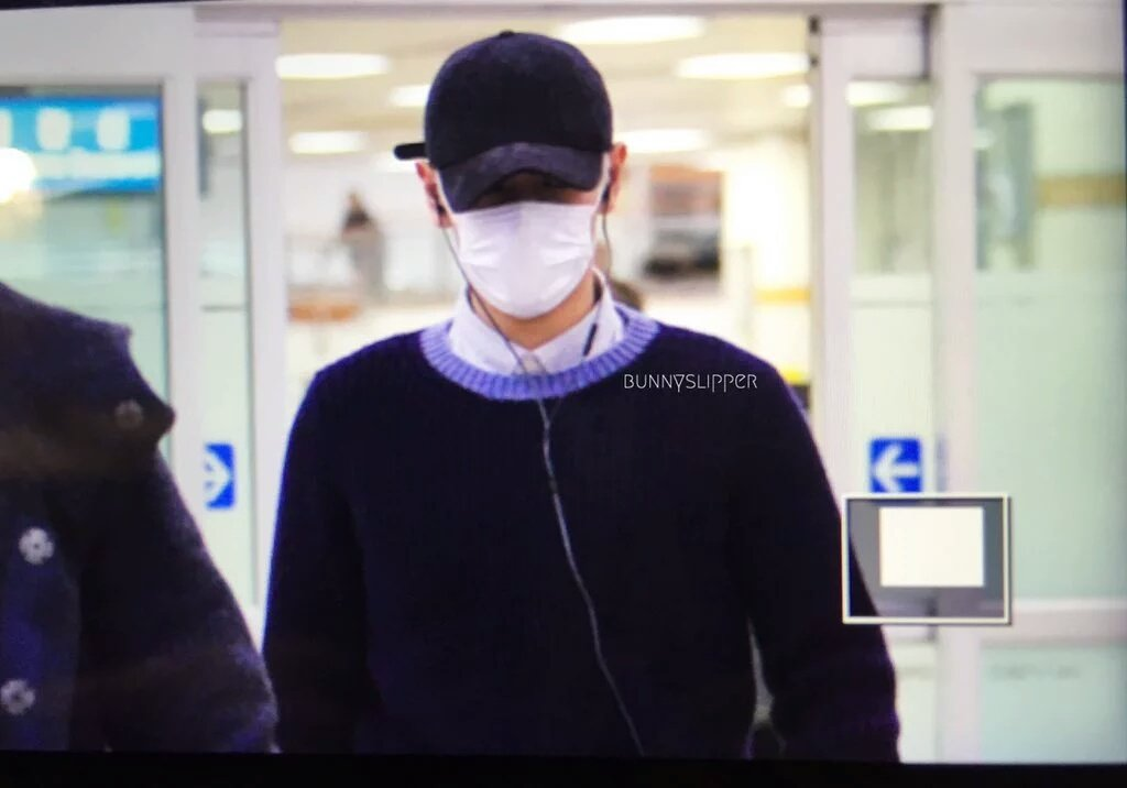 TOP Arrival Seoul From Japan 2016-02-12 (9)