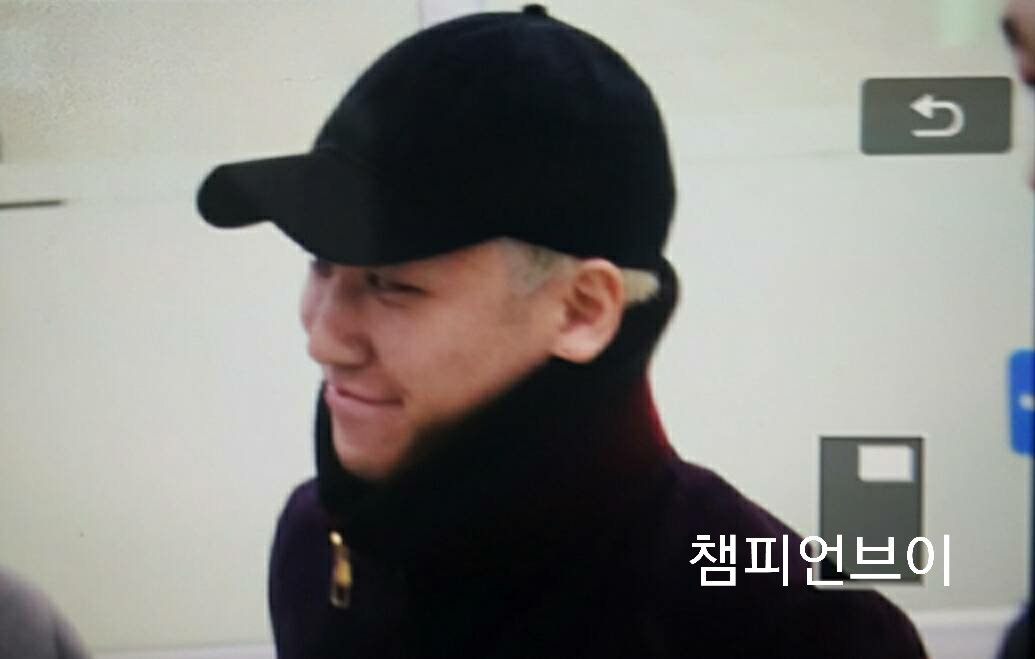 Seungri Arrival Seoul Gimpo From Tokyo 2016-02-25