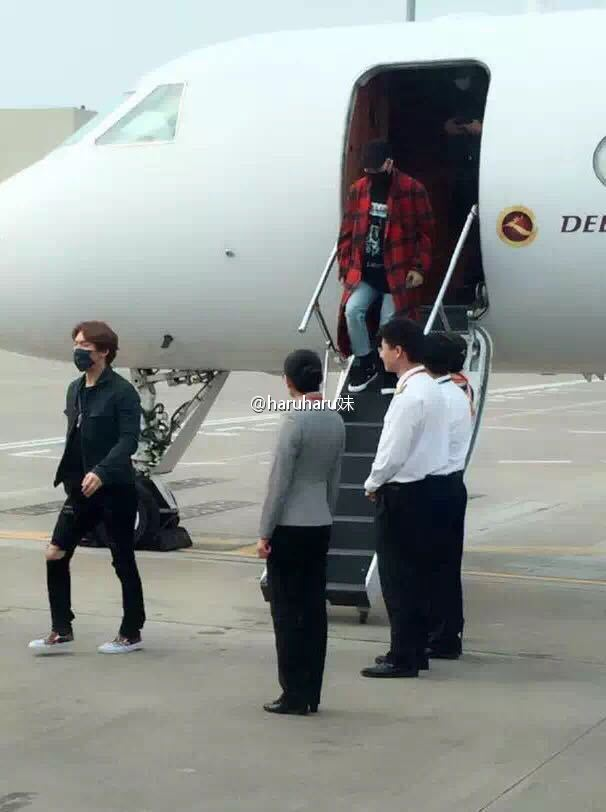 BIGBANG Arrival Changsha 2016-03-26 Echoing 妹 (7)
