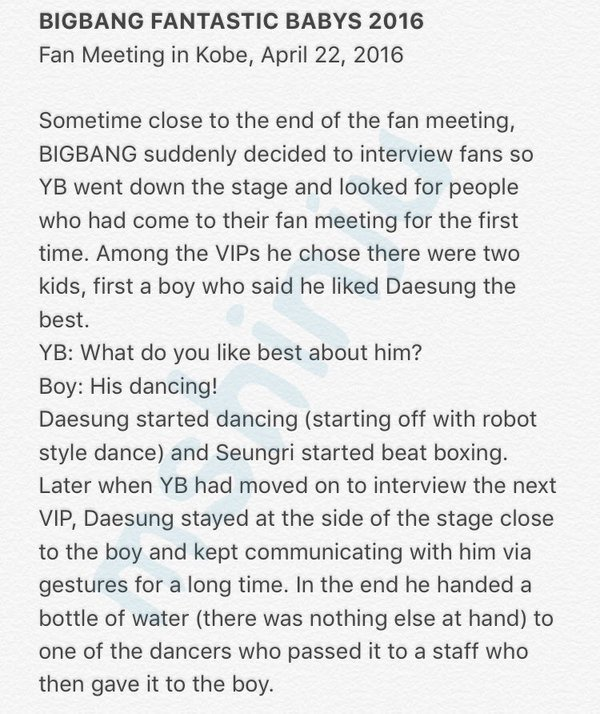 BIGBANG Fan Meeting Kobe Day 1 MShinju Reports (3)