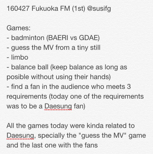 Fukuoka FM BIGBANG 2016-04-27 Event 1 And 2 (3)