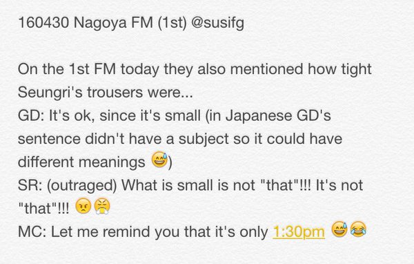 2 BIGBANG FM Nagoya 2016-04-30 By MShinju And Susifg (1)