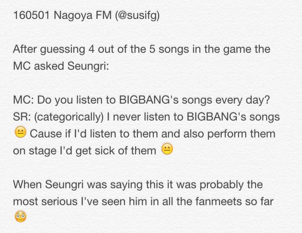 Report BIGBANG FM Nagoya Event 5 2016-05-01 By Susifg