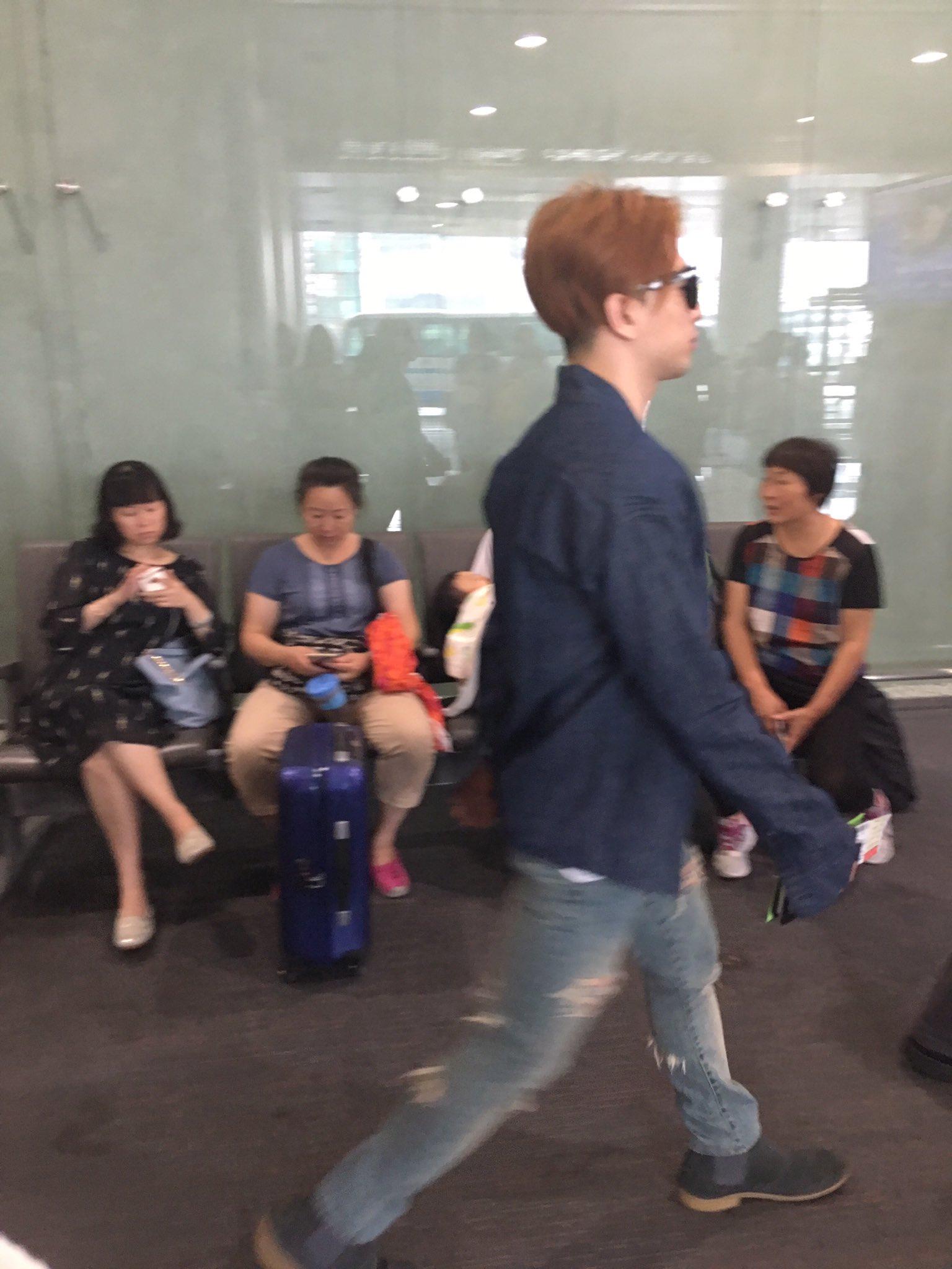 BIGBANG departure Beijing to Seoul 2016-07-18 (1)