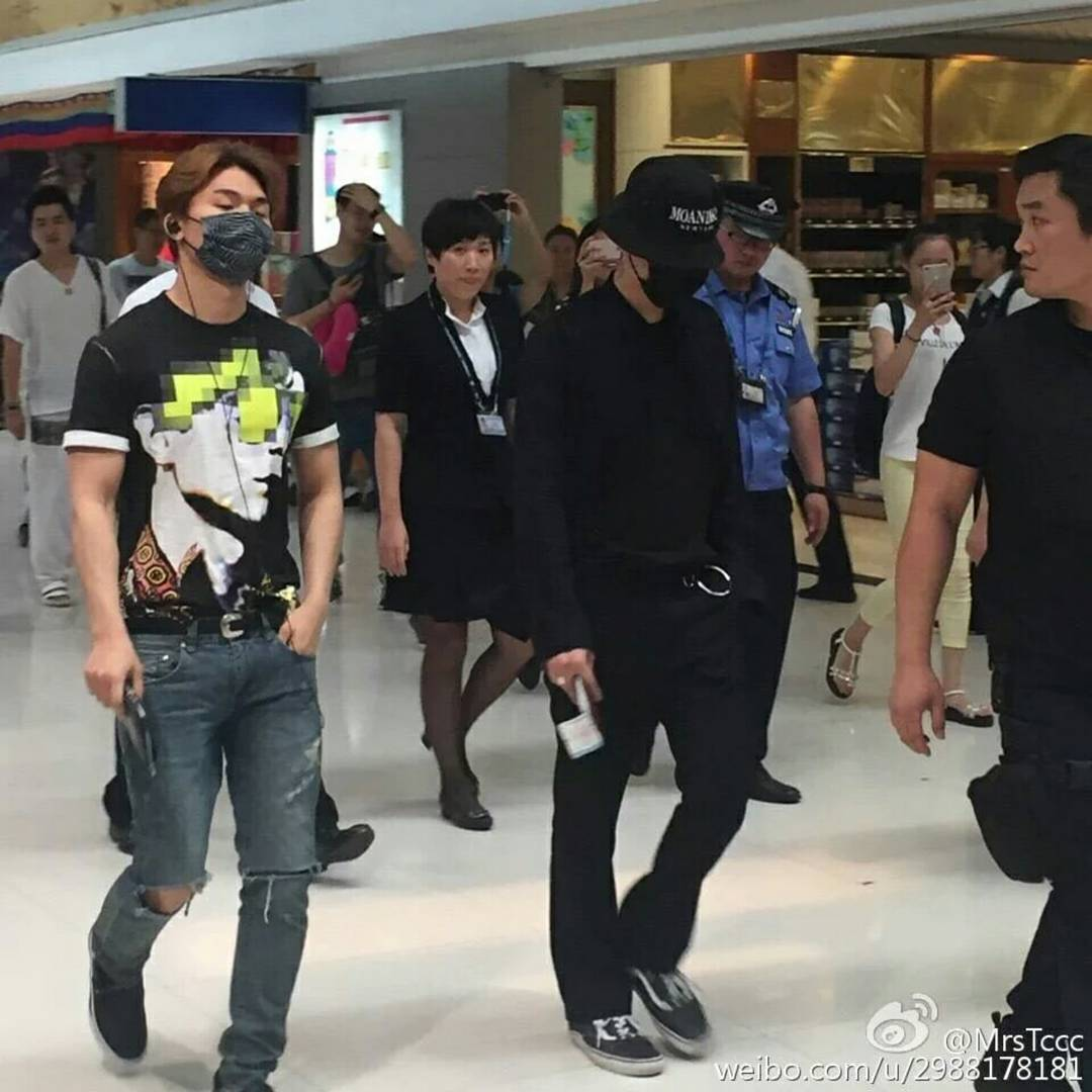 BIGBANG departure Beijing to Seoul 2016-07-18 (5)
